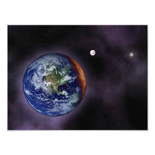 La terre montrée aux bords externes photographies