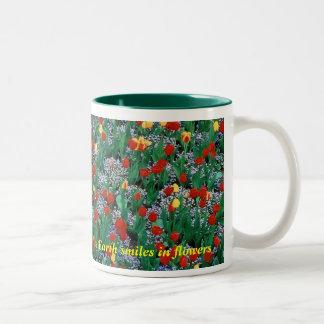 La terre sourit en fleurs - verdissez par tasse 2 couleurs