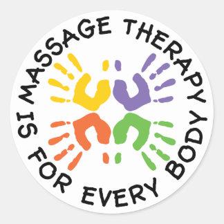 La thérapie de massage est pour des autocollants d