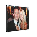 La toile enveloppée par photo de mariage créent vo toiles tendues