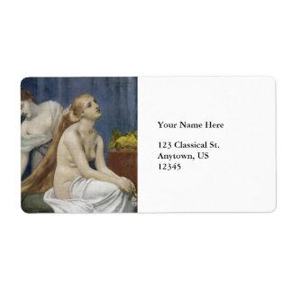 La toilette par Puvis de Chavannes Étiquette D'expédition