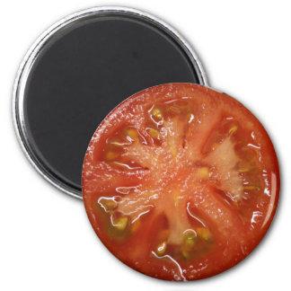 La tomate parfaite de tranche magnet rond 8 cm