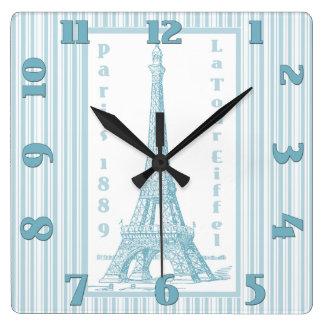La Tour Eiffel 1889 Square Wall Clock