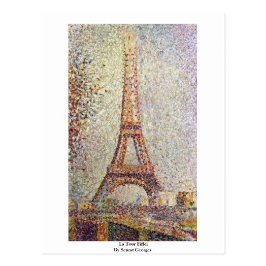 La Tour Eiffel By Seurat Georges Postcard