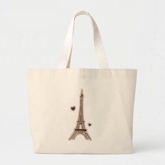 La tour Eiffel Large Tote Bag