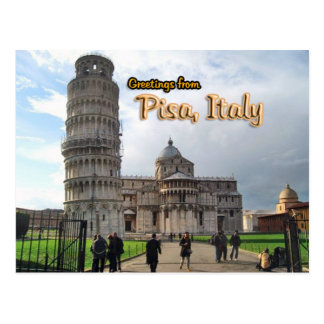 La tour penchée de Pise, Italie Cartes Postales