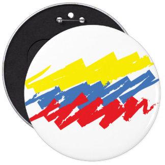 """""""La Tricolor"""" 6 Inch Round Button"""