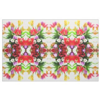 La tulipe de ressort fleurit le motif