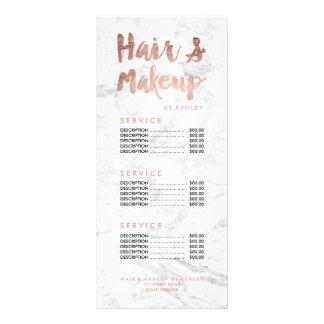 La typographie de cheveux et d'or de maquillage double carte en  couleur