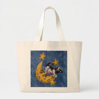 La vache sautée au-dessus de la lune sac en toile jumbo