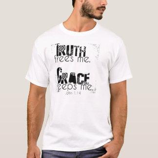La vérité me libère, grâce me garde t-shirt