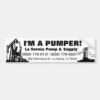 La Vernia Pump Bumper Sticker