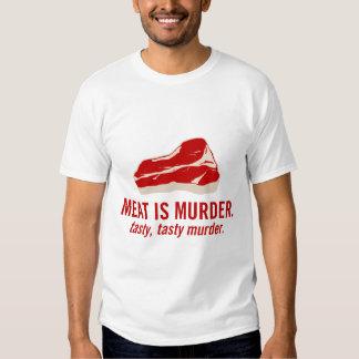 La viande est meurtre, meurtre savoureux t-shirt