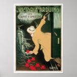 La Victoria Arduino Vintage Coffee Drink Ad Art Poster