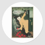 La Victoria Arduino Vintage Coffee Drink Ad Art Classic Round Sticker