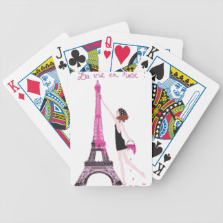 La vie en rose bicycle playing cards