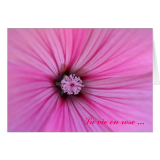 La vie en rose ... card