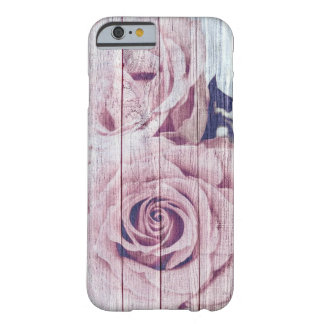 La Vie En Rose French Shabby Chic Dusky Pink Rose Barely There iPhone 6 Case
