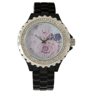La Vie En Rose French Shabby Chic Dusky Rose Watch