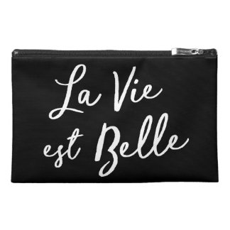 """La Vie Est Belle"" Travel Cosmetic Pouch"