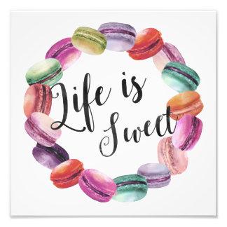 La vie est copie douce d'art de Macarons Impressions Photographiques
