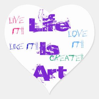 La vie est des autocollants d art