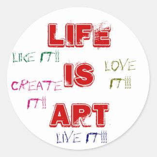 La vie est des autocollants d'art