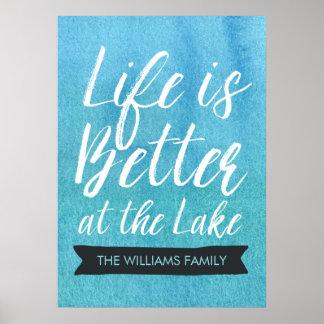 La vie est meilleure au lac personnalisé poster