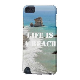La vie est un cas de contact d'iPod de plage