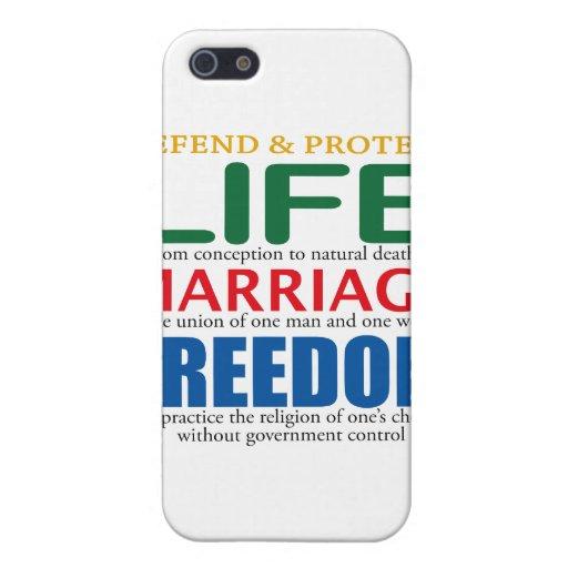 La vie, mariage, liberté coques iPhone 5