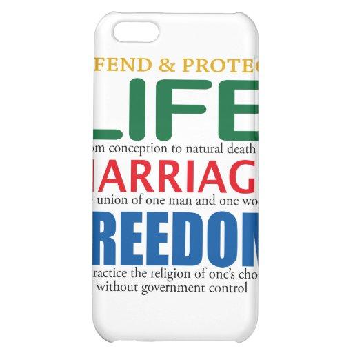 La vie, mariage, liberté étuis iPhone 5C