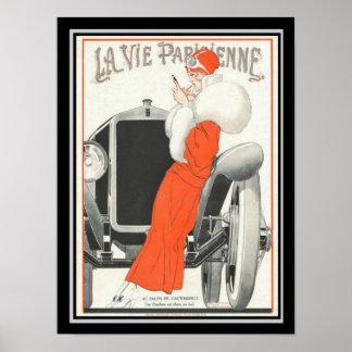 La Vie Parisienne Art Deco Poster 12 x 16