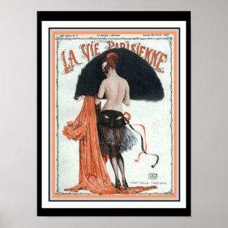 La Vie Parisienne Vintage Cover Poster 12 x 16