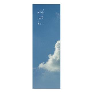 La vie sera… Le travail 11 ; 17 - Signet Carte De Visite Petit Format