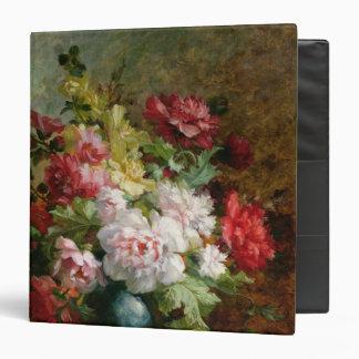 La vie toujours avec des fleurs et la musique de classeur vinyle