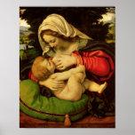 La Vierge du coussin vert, 1507-10 Poster