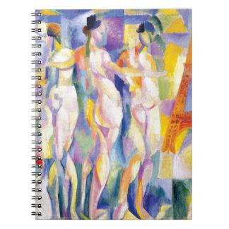 La Ville de Paris by Robert Delaunay Spiral Notebook