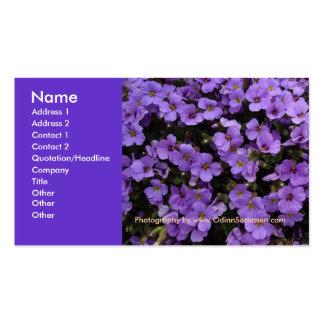 La violette colore le carte de visite floral