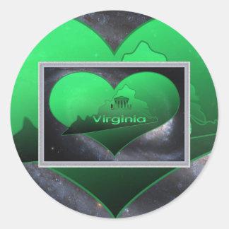 La Virginie à la maison, la Virginie à la maison Sticker Rond