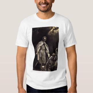 La vision du St Francis de la torche flamboyante Tshirts