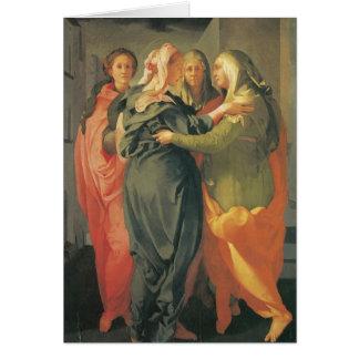 La visite - Jacopo DA Pontormo Carte De Vœux