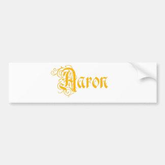 L'Aaron nommé dans la belle vieille calligraphie Autocollant De Voiture