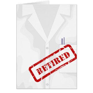 Lab Coat Jacket Retired Custom Greeting Card