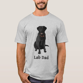 Lab Dad Black Labrador Retriever T-Shirt