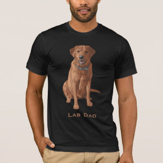 Lab Dad Fox Red Yellow Labrador Retriever Dog T-Shirt