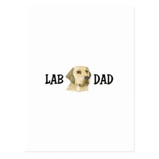 LAB DAD POST CARD