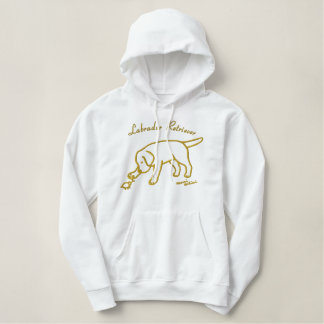 Lab Friendly Cartoon Embroidered Hoodie
