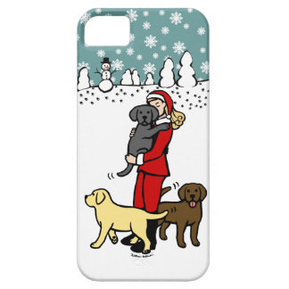 Lab Mom Santa Christmas iPhone 5 Case