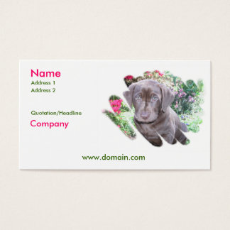 Lab Puppy Business Card