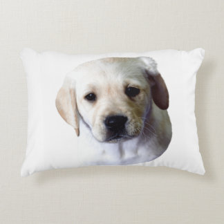 Lab Puppy Face Decorative Pillow